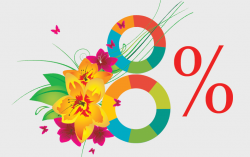 Получи скидку 8%! Встречай весну! Обновляйся. Развивайся. Меняйся. Воспользуйтесь праздничной скидкой на создание и продвижение сайта. - Webcentr